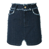 Andrea Bogosian Saia Jeans Mini Saltera - Azul