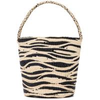 Sensi Studio Zebra Bucket Bag - Preto