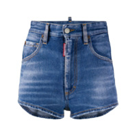 Dsquared2 Short Jeans Com Padronagem - Azul