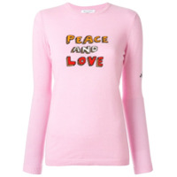 Bella Freud Suéter Peace And Love - Rosa