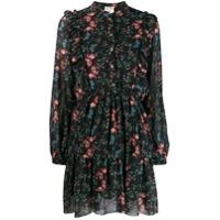 Semicouture Vestido Casual Floral - Preto