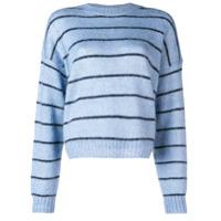 Acne Studios Suéter Com Listrado - Azul