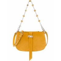 Miu Miu Bolsa Tiracolo Com Aplicações E Correntes - Amarelo