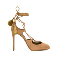 Dolce & Gabbana Sapato De Camurça Com Amarração - Marrom