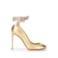 Francesco Russo Sapato 'rubans' - Dourado