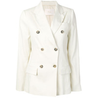 Tela Double Breasted Blazer - Branco