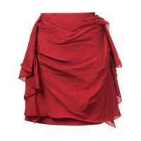 Carmen March Saia Com Drapeado - Vermelho