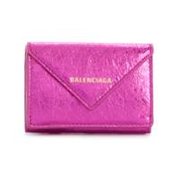 Balenciaga Carteira Papier Mini De Couro - Rosa