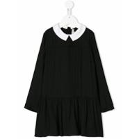 Bonpoint Vestido Com Contraste - Preto