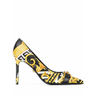 Versace Sapato Com Estampa Barocco - Preto