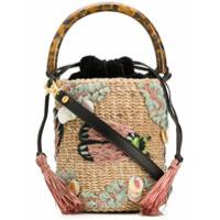 Aranaz Embroidered Bucket Bag - Neutro