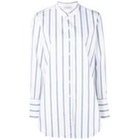 By Malene Birger Camisa Listrada Com Botões - Branco