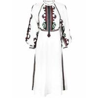Vita Kin Vestido Midi Bordado - Branco