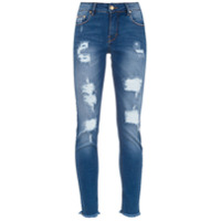 Amapô Calça Jeans Skinny Cropped 'tucson' - Azul