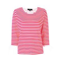 Fay Camiseta Listrada - Vermelho