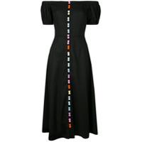 Olivia Rubin Vestido Arco-Íris Com Botão - Preto