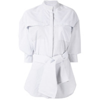 Acler Camisa Lincoln Oversized Listrada - Cinza