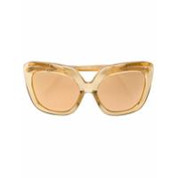 Linda Farrow Óculos De Sol Oversized - Amarelo