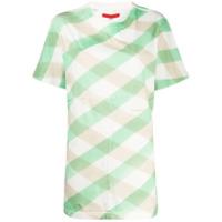 Eckhaus Latta Camiseta Lattice Xadrez - Verde