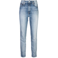 Trave Denim Calça Jeans Slim Cintura Alta - Azul
