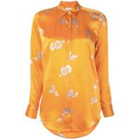 Equipment Camisa Com Estampa Floral - Laranja