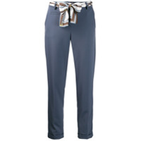 Cambio Cropped Belted Trousers - Azul