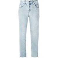 Le Lis Blanc Calça Jeans Cropped Reta - Azul