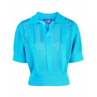 Lhd Camisa Polo Perfurada - Azul