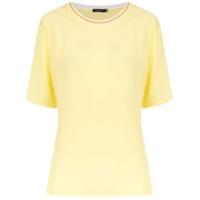 Corporeum Blusa Decote Em Tricô - Amarelo