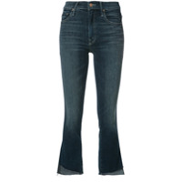 Mother Calça Jeans Flare Cropped - Azul