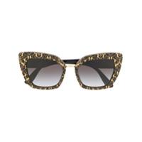 a6abbc815 Dolce & Gabbana Eyewear Óculos De Sol Gatinho Estampado - Preto ...