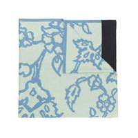 Chirazi Lenço Com Estampa Floral - Azul