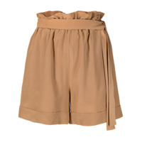 Federica Tosi Short Cintura Alta Com Cinto - Neutro