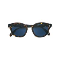 Oliver Peoples Óculos De Sol Arredondado - Marrom