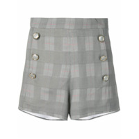 Forte Dei Marmi Couture Short Xadrez - Cinza