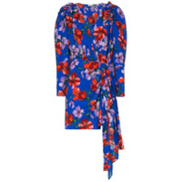 Magda Butrym Vestido Com Estampa Floral 'lagos' Mini - Azul