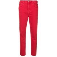 Mih Jeans Calça Jeans Slim Cropped 'mimi' - Vermelho