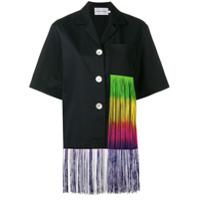 George Keburia Camisa Com Tassel - Preto
