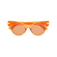 Bottega Veneta Eyewear Óculos De Sol The Original 04 - Laranja