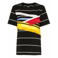Angel Chen Camiseta Com Detalhe De Franjas - Preto