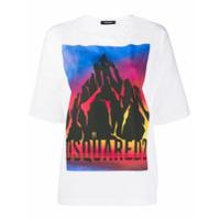 Dsquared2 Camiseta Decote Careca Com Estampa Gráfica - Branco