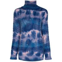 Moncler Grenoble Suéter De Tricô Com Efeito Marmorizado - Azul