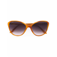 Cartier Óculos De Sol Gatinho Oversized - Amarelo