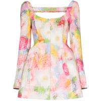 Shushu/tong Vestido Com Estampa Floral - Branco
