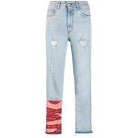 Heron Preston Calça Jeans Com Detalhes Puídos - Azul