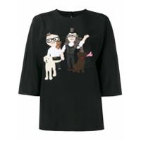 Dolce & Gabbana Blusa Com Patchwork - Preto