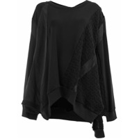 Koché Blusa De Moletom Com Detalhe De Tricô - Preto