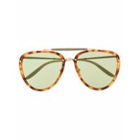 Gucci Eyewear Óculos De Sol Oval - Marrom