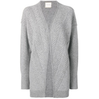 Fine Edge Open Short Cardigan - Cinza