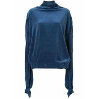 Paula Knorr Blusa Drapeada - Azul
